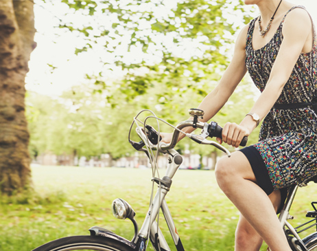 Biking at the park
