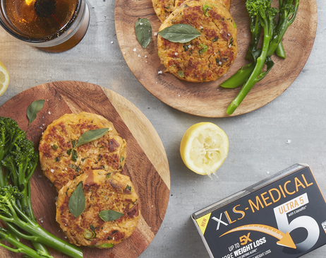 Blinies and vegetables with xls Medical